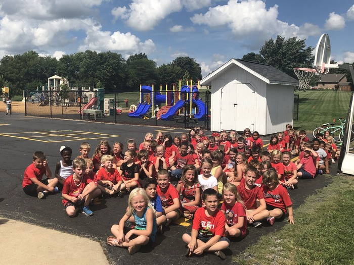 First grade all in red