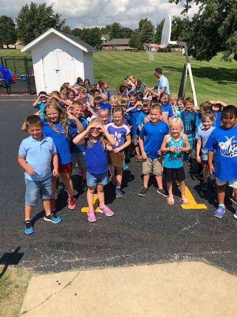 First grade all in blue