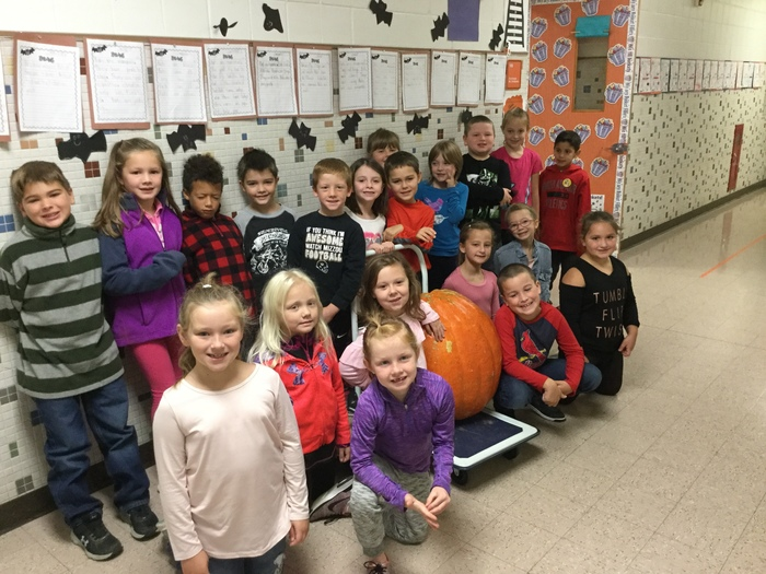 Mrs. Snodgrass' class and Pumpkin Jack