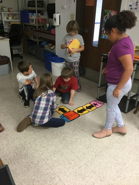First graders coding