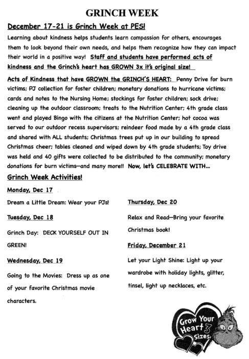 Grinch Week Flyer