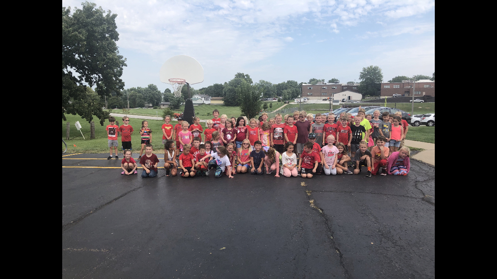 First grade wearing red!